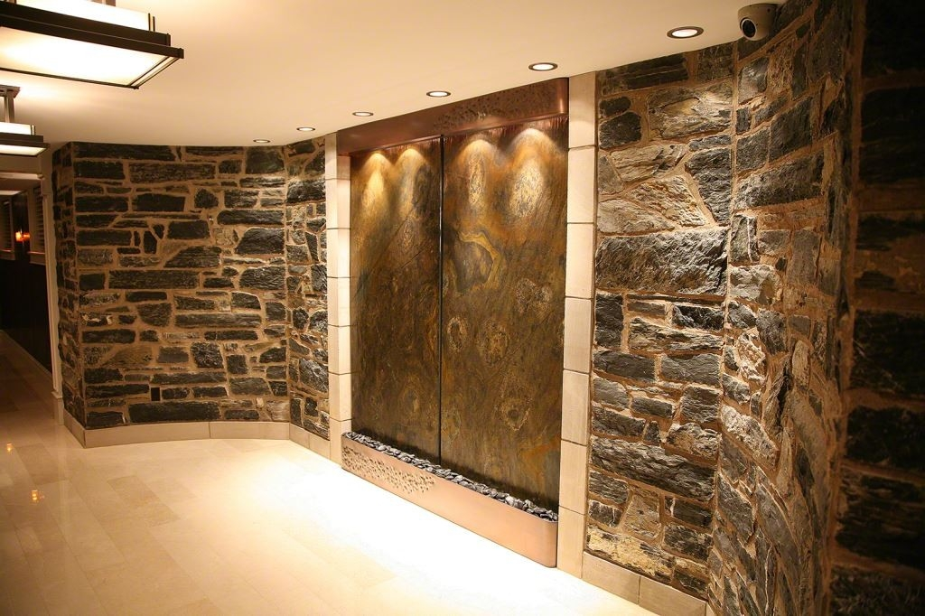 Image of: Contemporary Wall Fountains Design