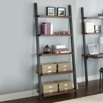 Contemporary Leaning Bookcase