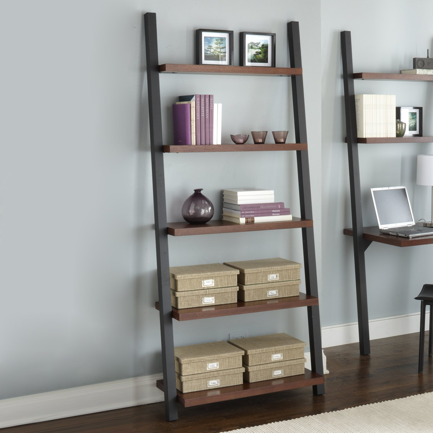 Image of: Contemporary Leaning Bookcase