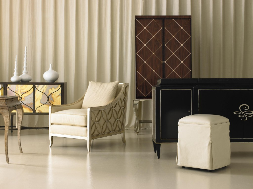 Image of: contemporary upholstered arm chair