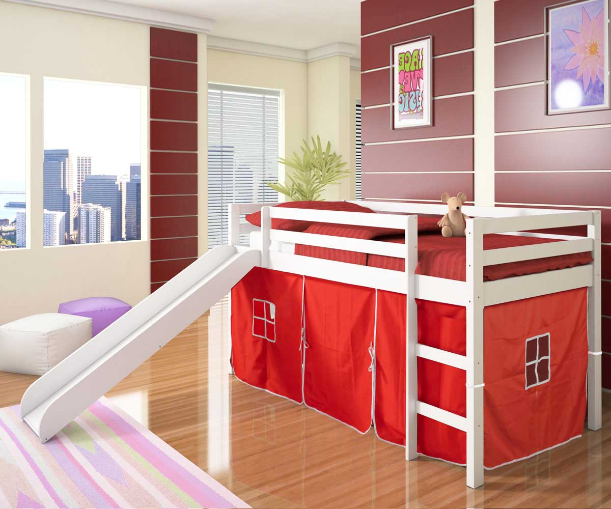 Image of: Cool Bunk Beds With Slides