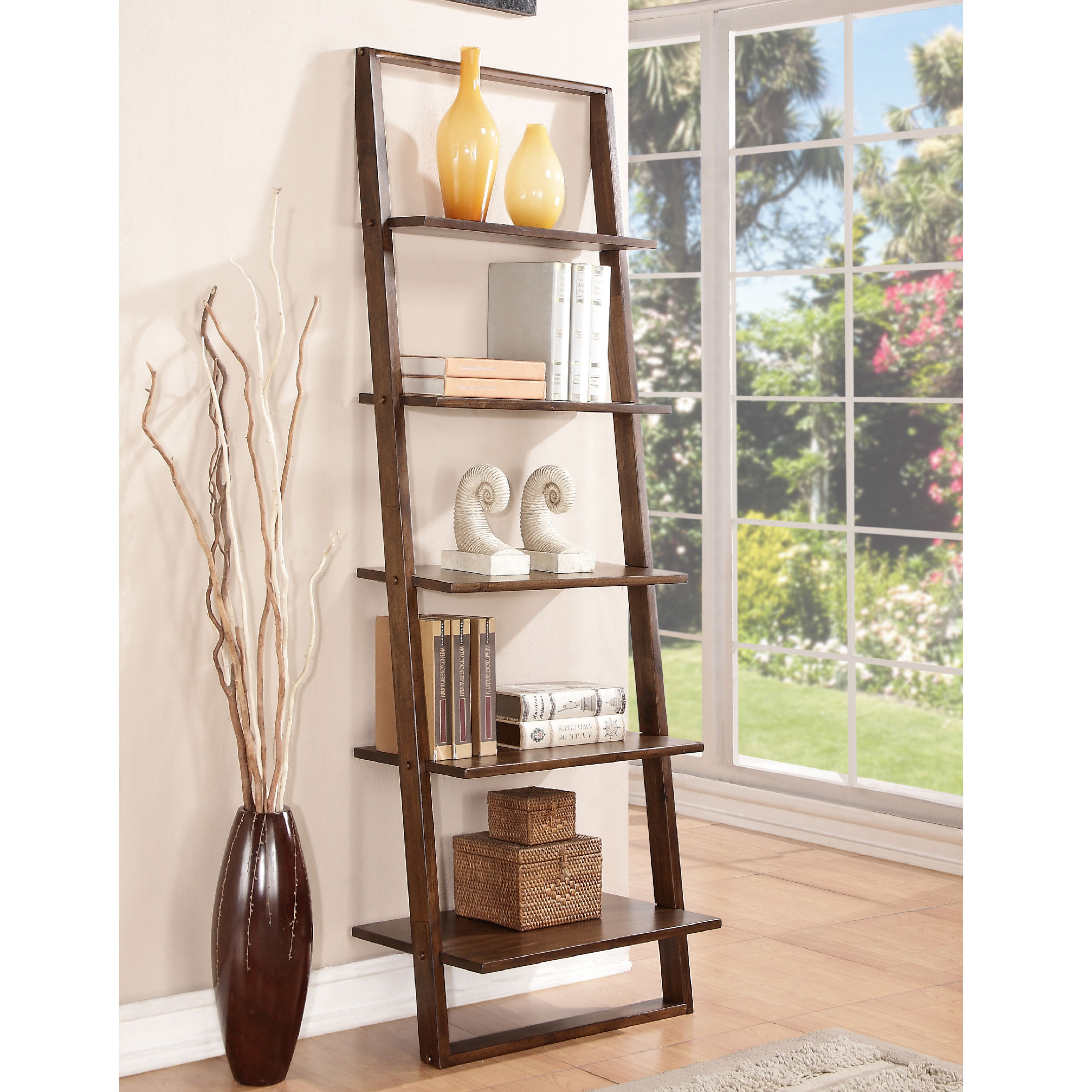 Image of: Cool Leaning Bookcase