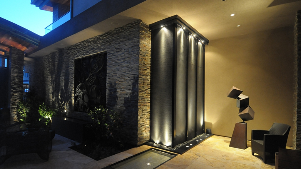 Image of: Copper Indoor Wall Fountains