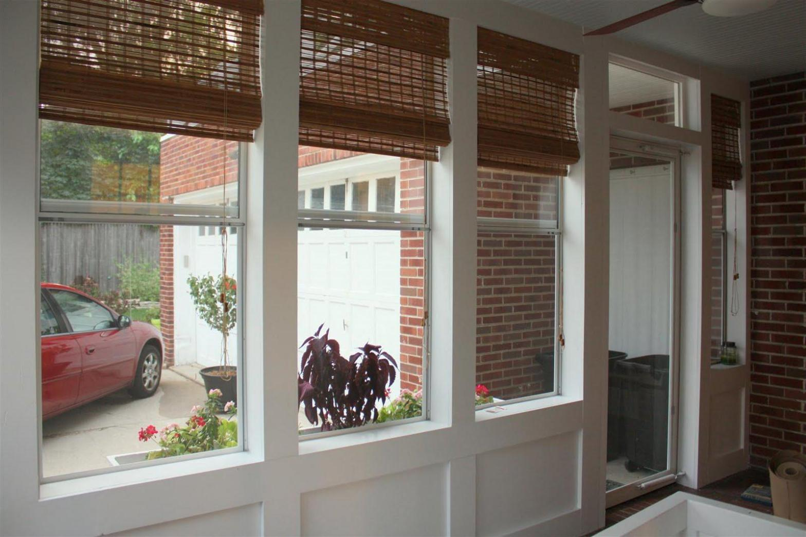 Image of: Cordless Bamboo Roman Shades
