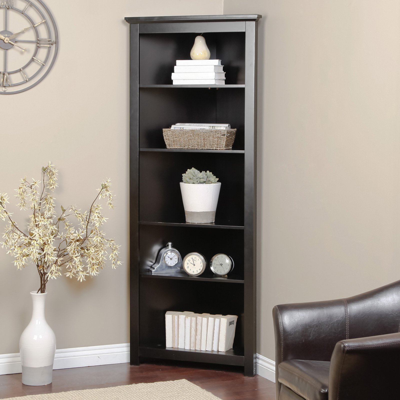 Corner Bookcase Designs