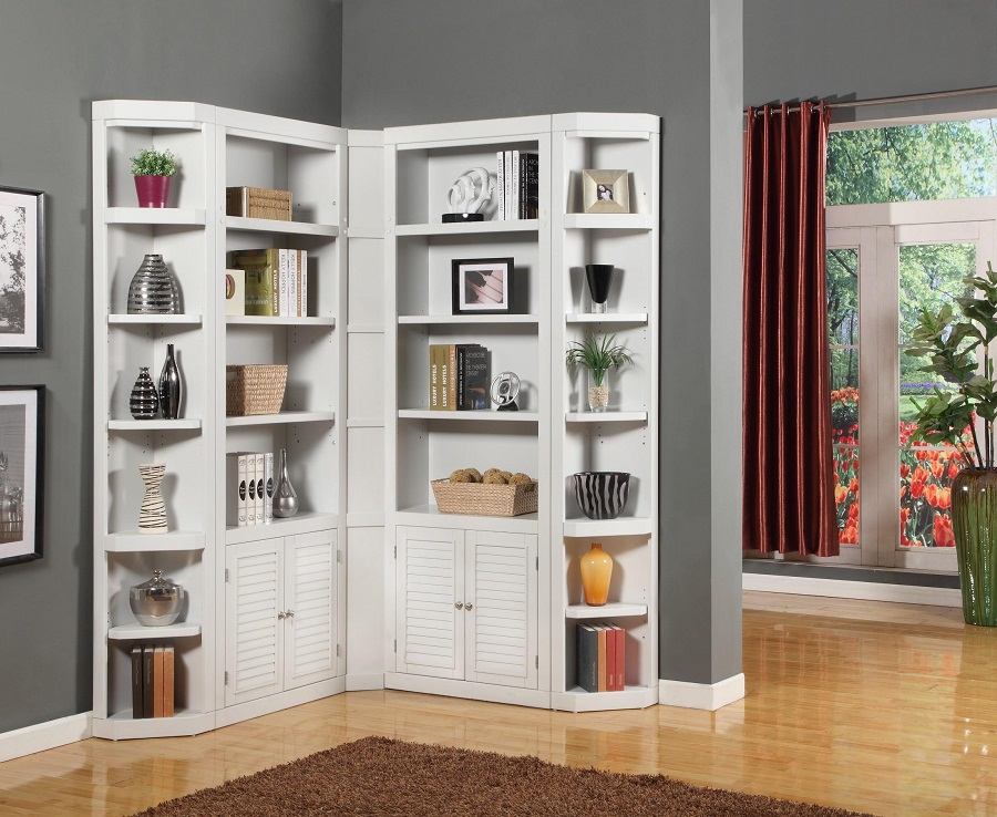 Image of: Corner Bookcase Modern