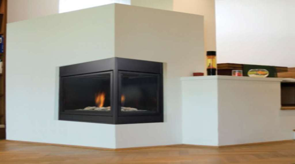 Image of: lovely corner gas fireplace designs