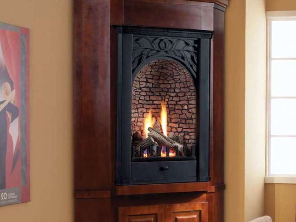 corner gas fireplace packages
