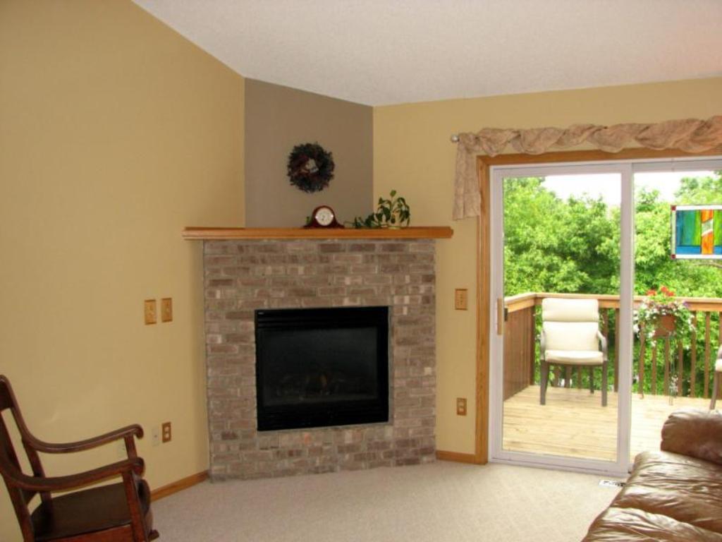 Image of: corner gas fireplace surround
