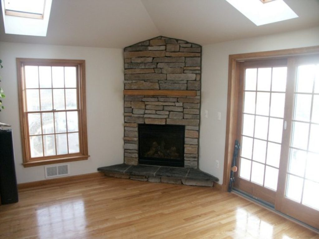 Image of: corner gas fireplace units