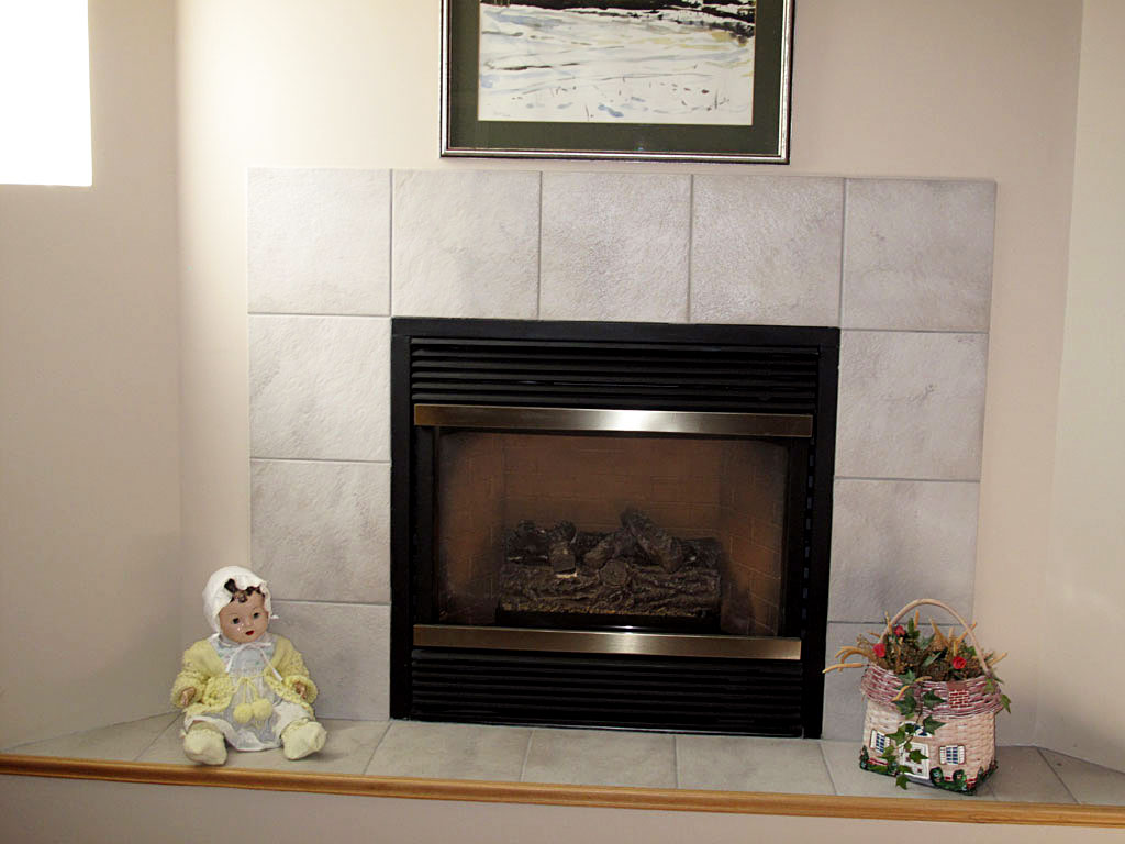 Image of: corner gas fireplace and tv stand