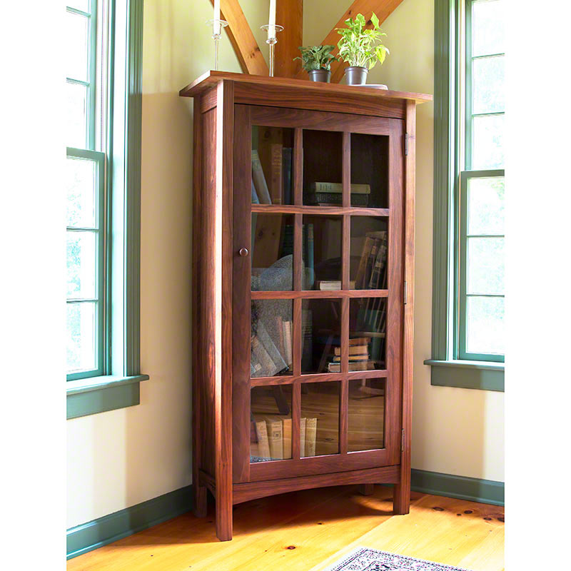 Image of: Corner Glass Front Bookcase