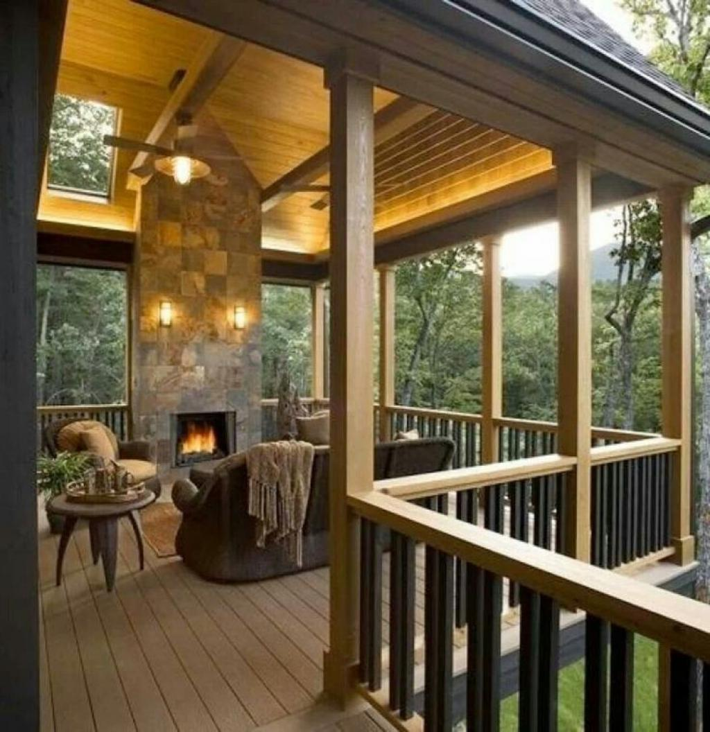 Image of: Covered Deck Designs Plans