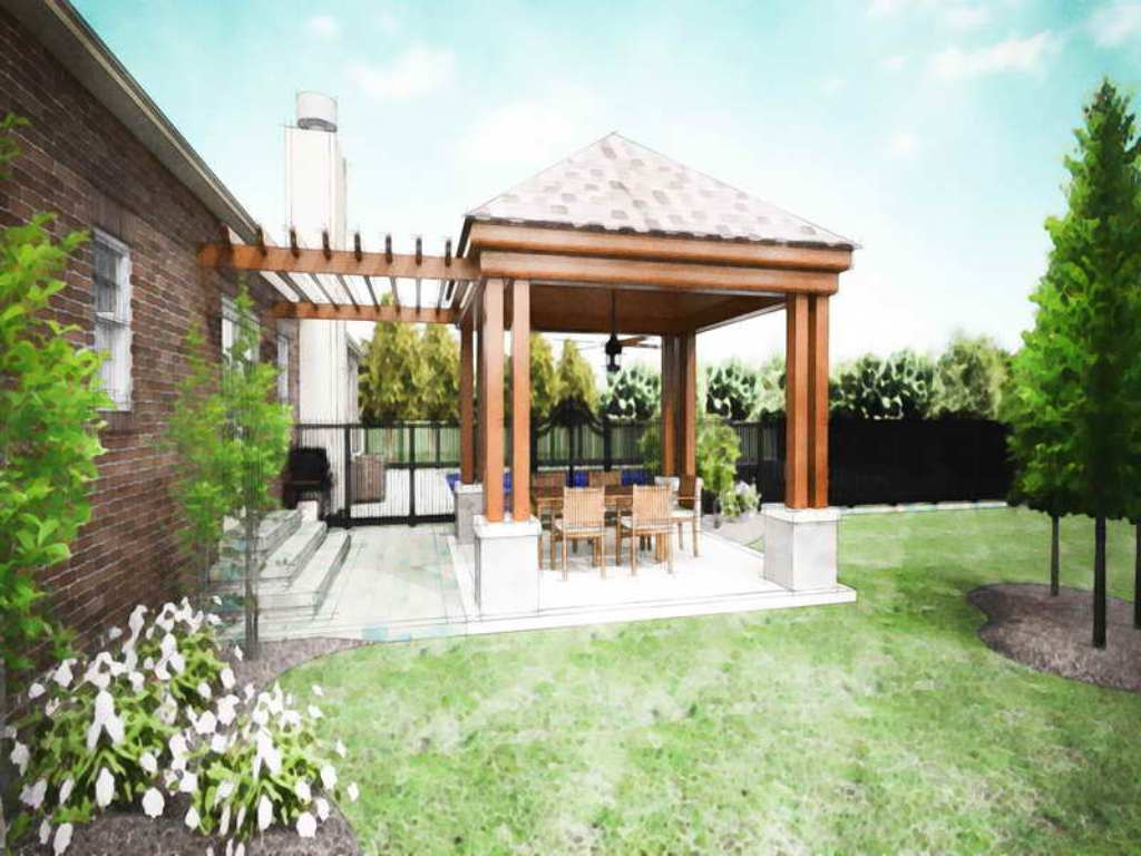 Image of: covered patio ideas design
