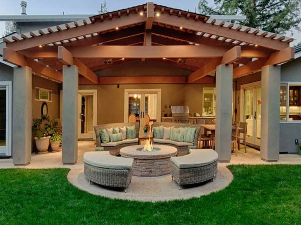 Image of: covered patio ideas for backyard