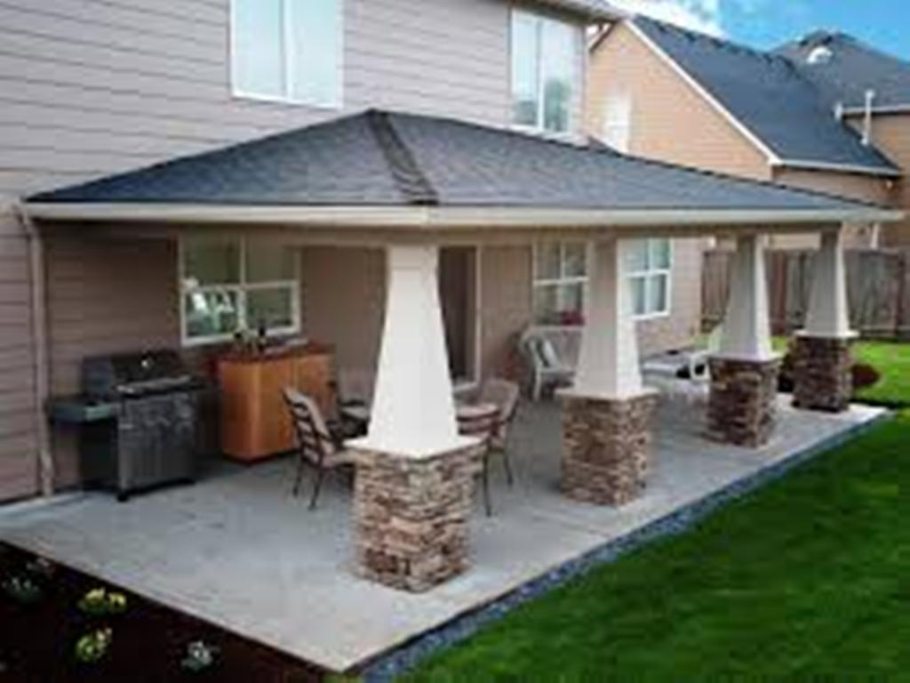 Image of: covered patio ideas for mobile homes