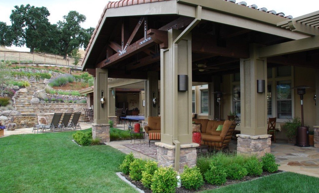 Image of: covered patio ideas on a budget