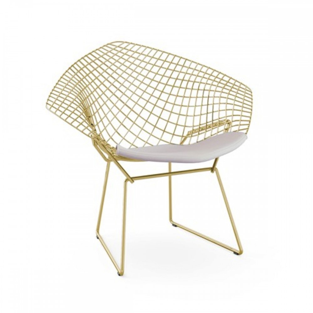 Image of: crem bertoia diamond chair