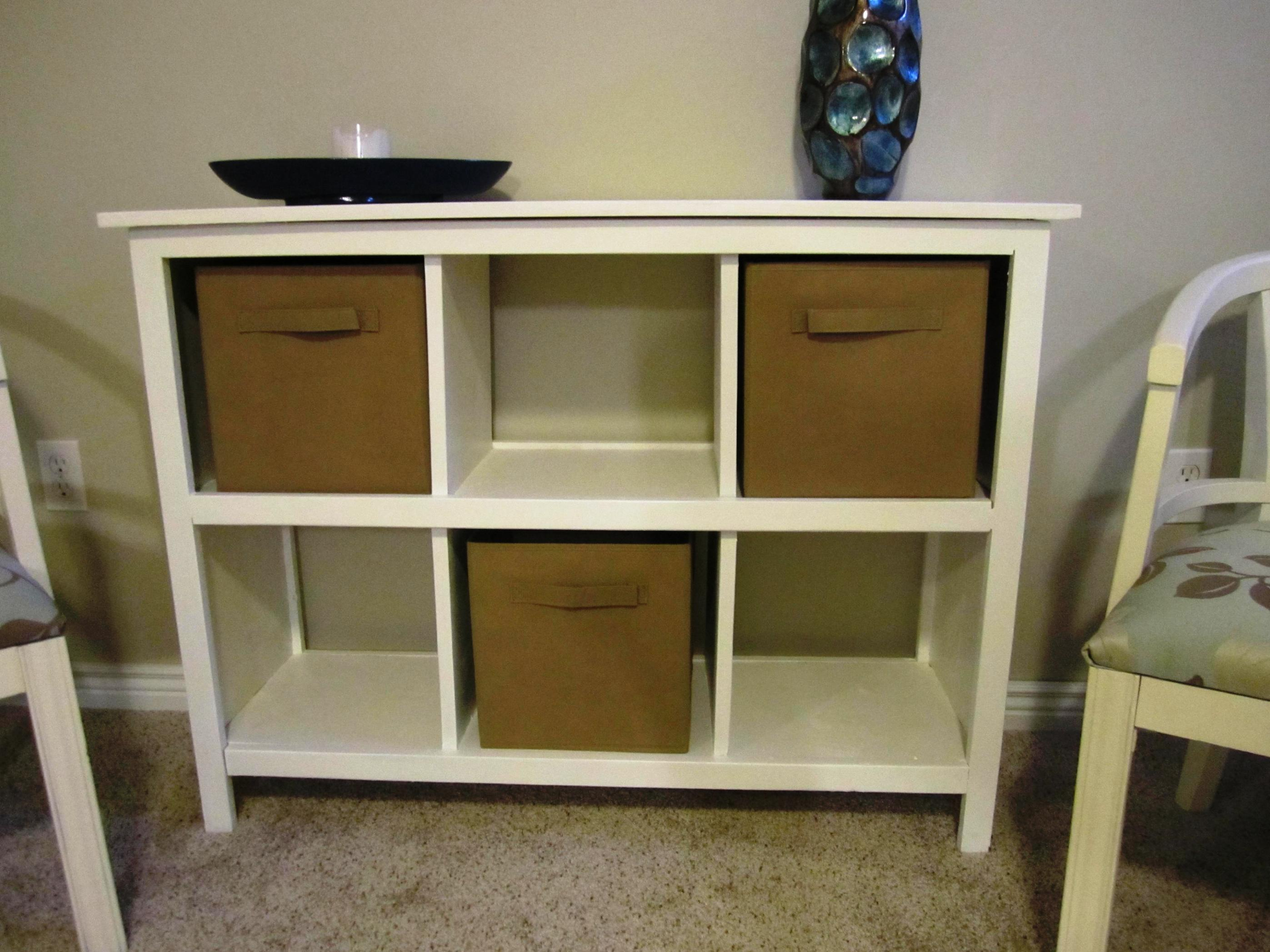 Image of: Cube Shelving Unit with Basket