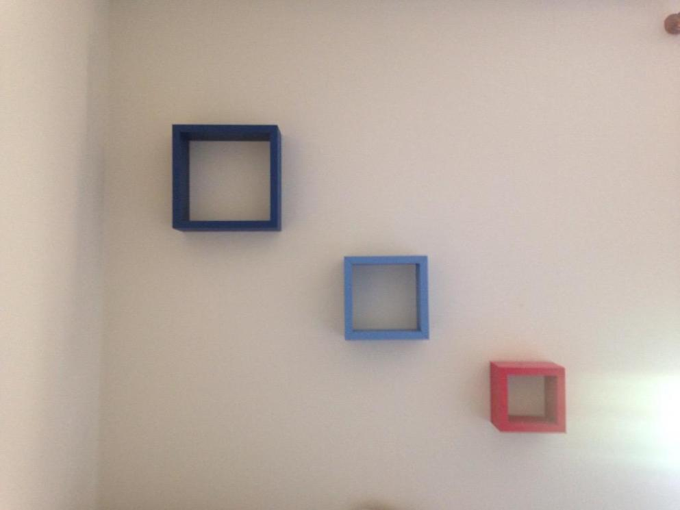Image of: Cube Wall Shelving