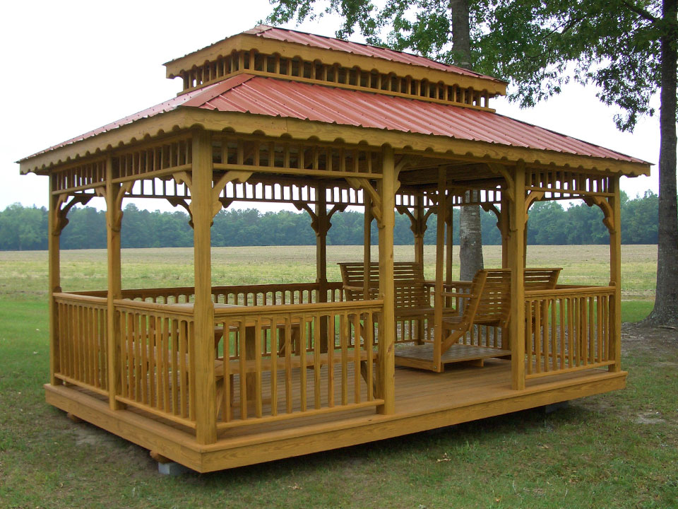 Image of: Custom Rectangular Gazebo