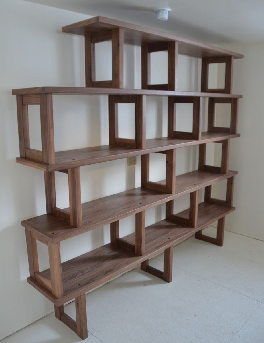 Custom Walnut Bookcase