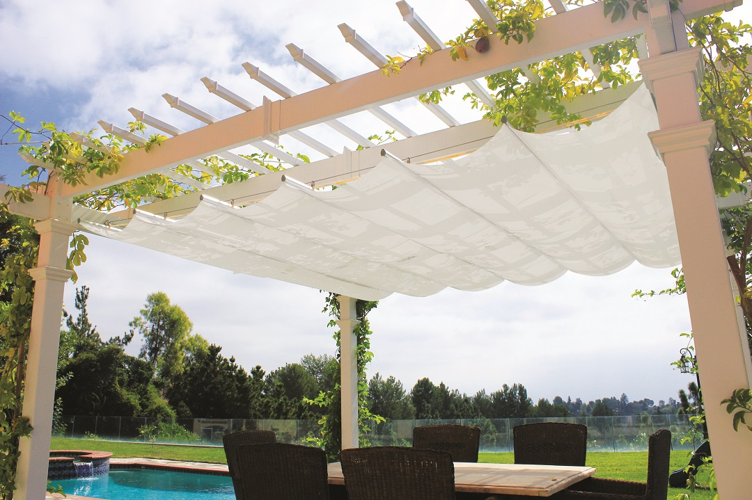 Image of: Cute Attached Pergola Kits