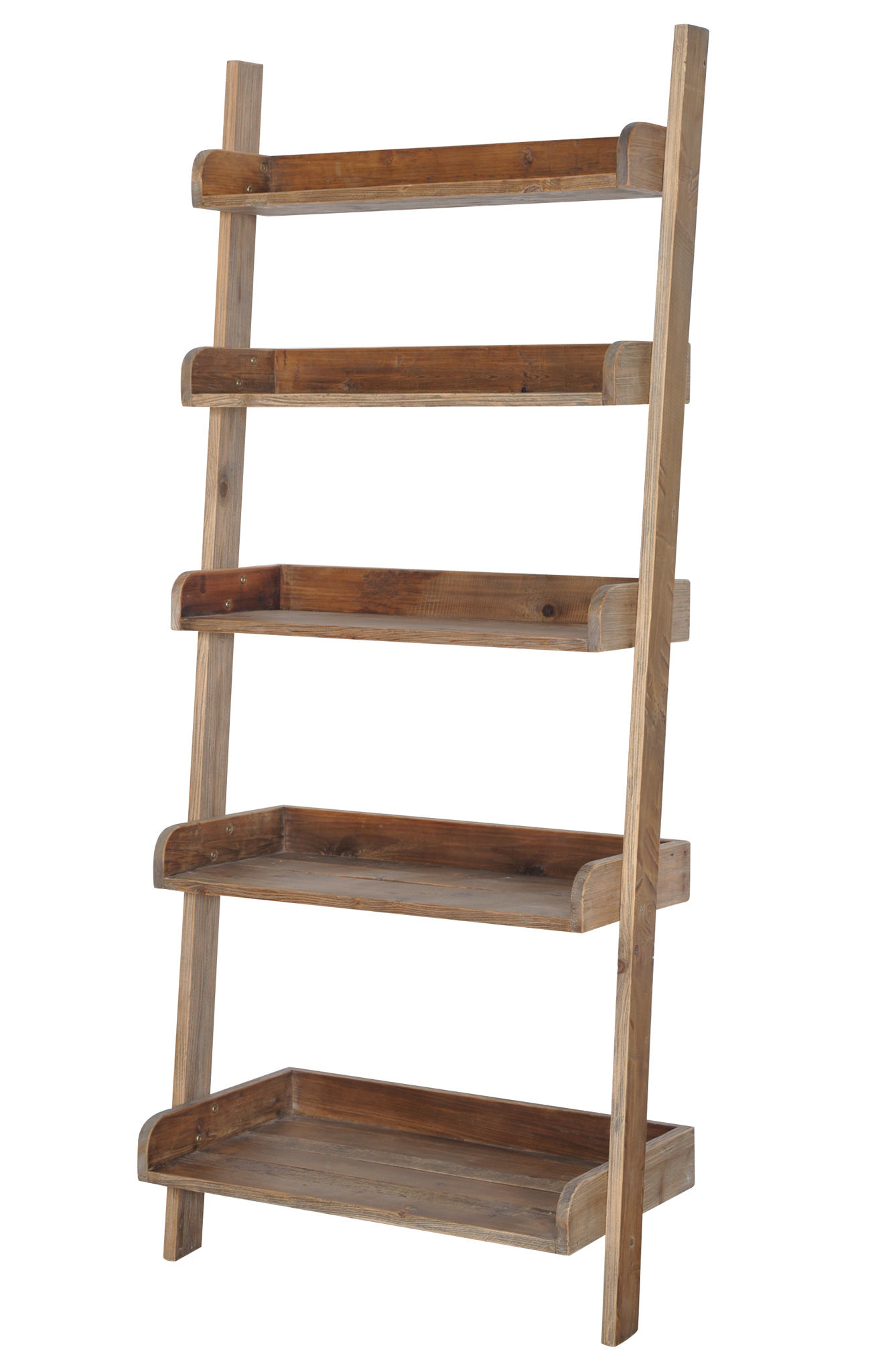 Image of: Cute Leaning Bookcase