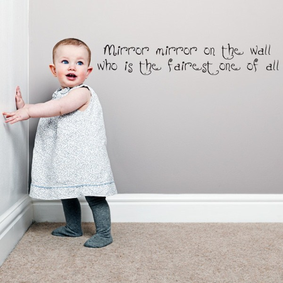 Image of: Cute Mirror Mirror On The Wall Quote