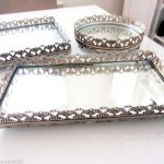 Cute Mirrored Vanity Tray
