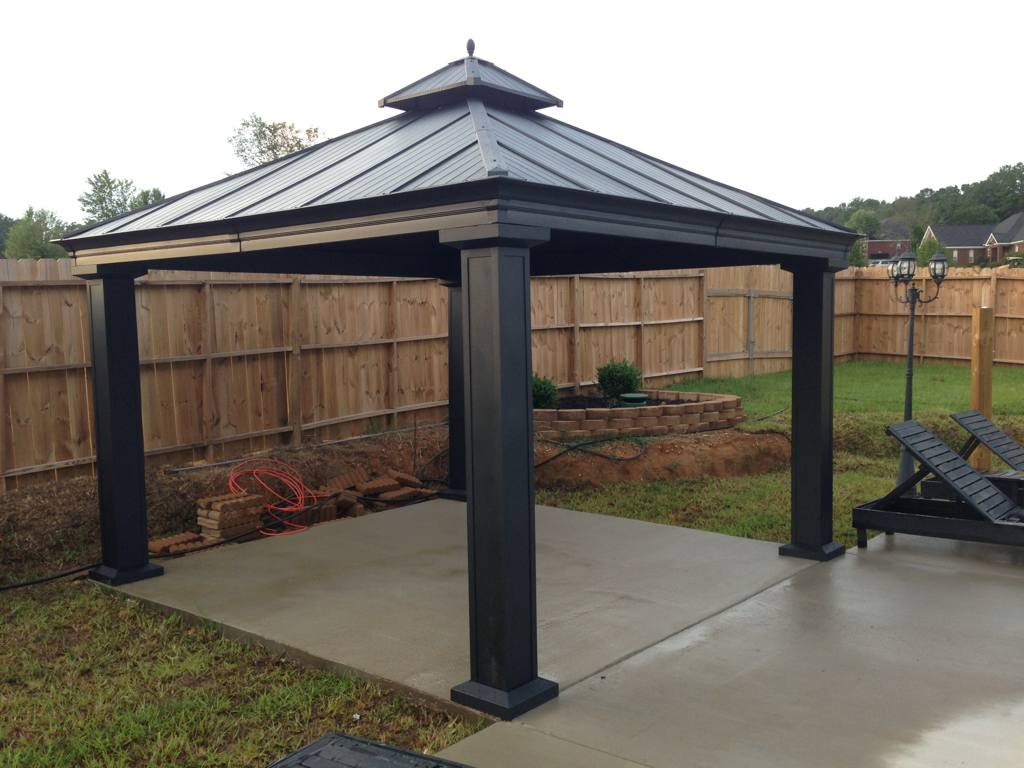 Image of: DIY Aluminum Gazebo