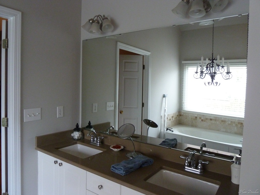DIY Mirror Frame Bathroom
