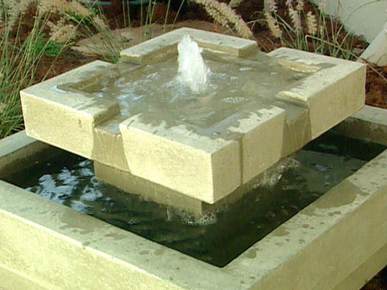 Image of: DIY Modern Outdoor Water Fountains