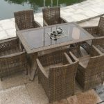 dark brown rattan dining chairs