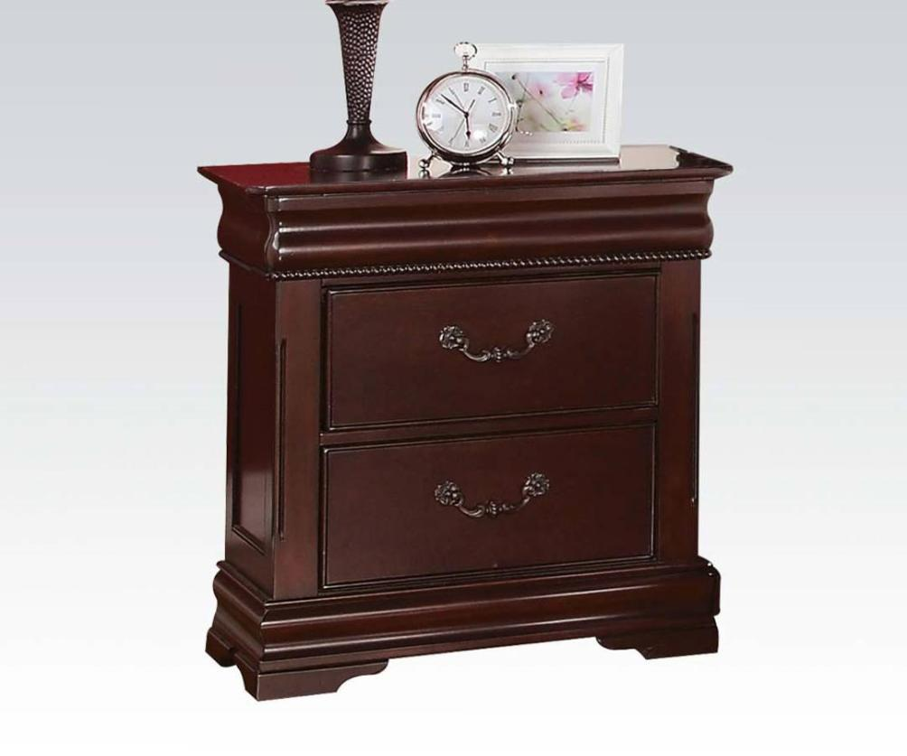 Image of: Dark Cherry Nightstand