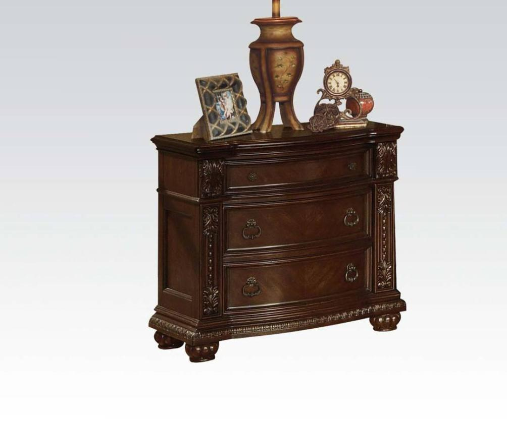 Image of: Dark Cherry Nightstands