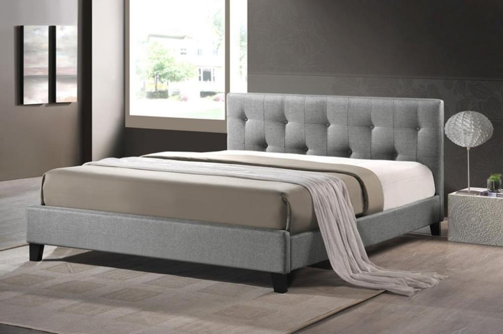 Image of: Dark Gray Upholstered Headboard