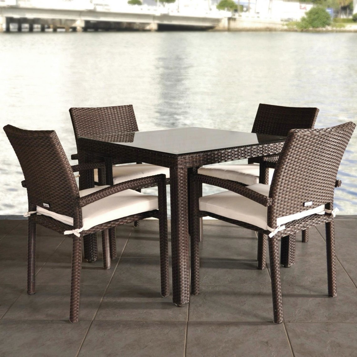 Image of: dark wicker dining chairs