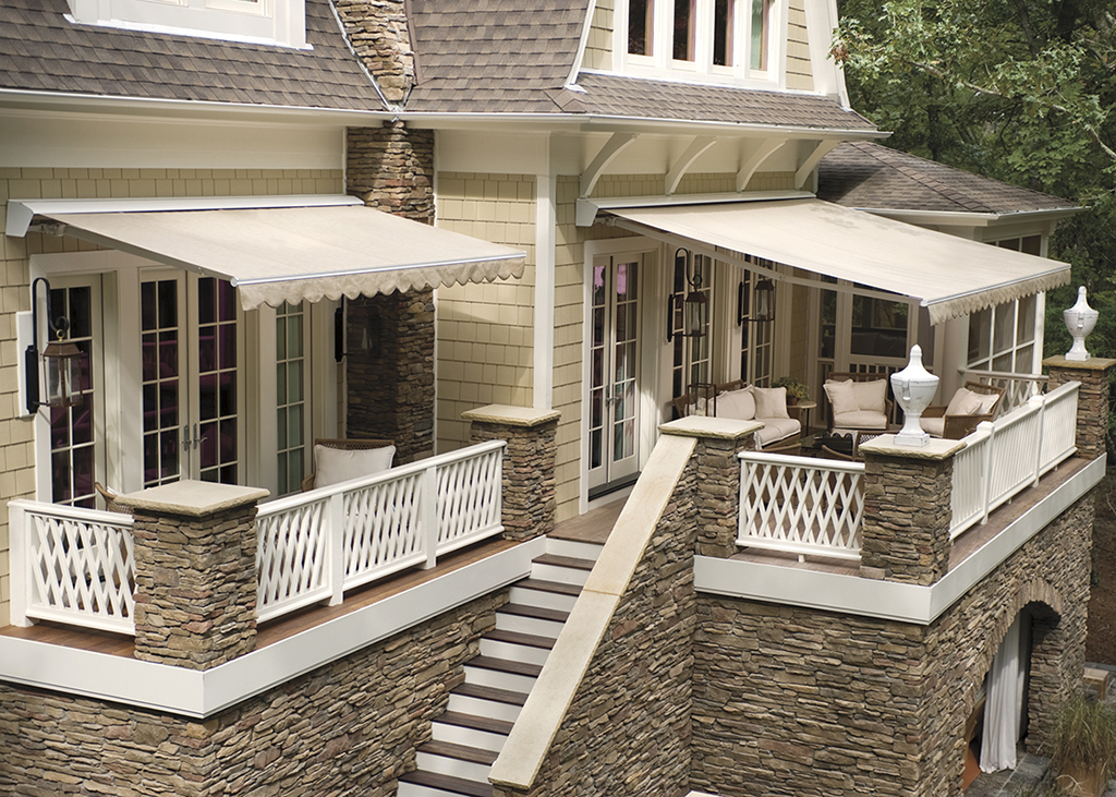 Image of: Beautiful Deck Awnings Design