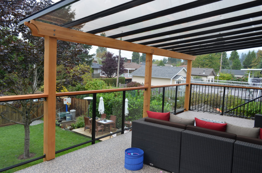 Image of: Deck Awnings Glass