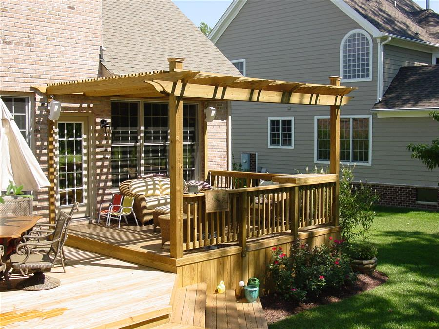 Image of: Deck Awnings Wood