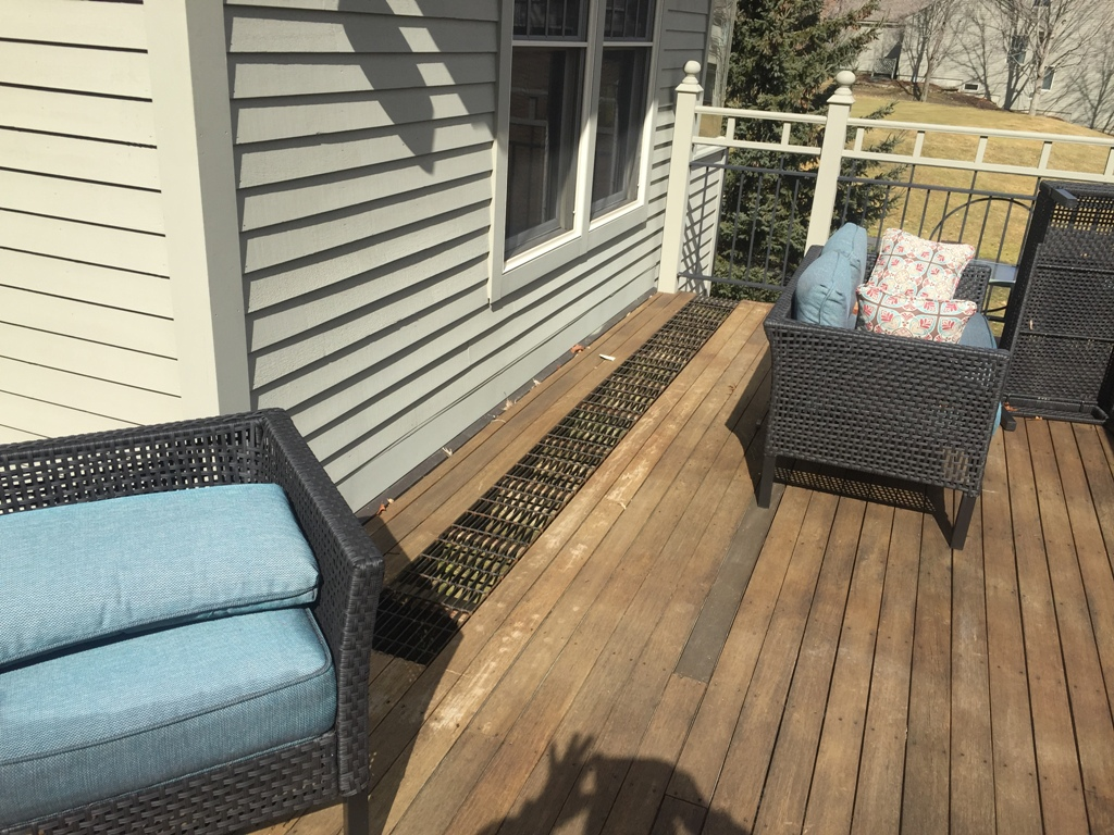 Image of: Deck Drainage Matting