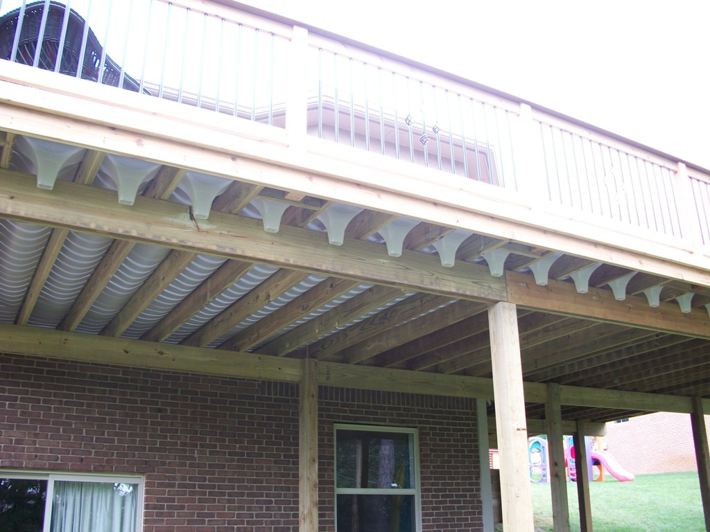 Image of: Deck Drainage Trough