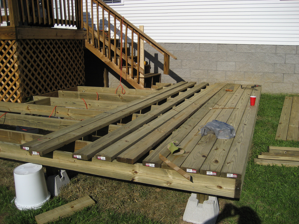 Image of: Deck Pier Blocks Foundations