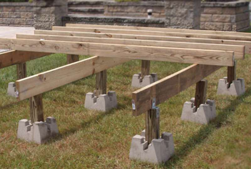 Image of: Deck Pier Blocks Project