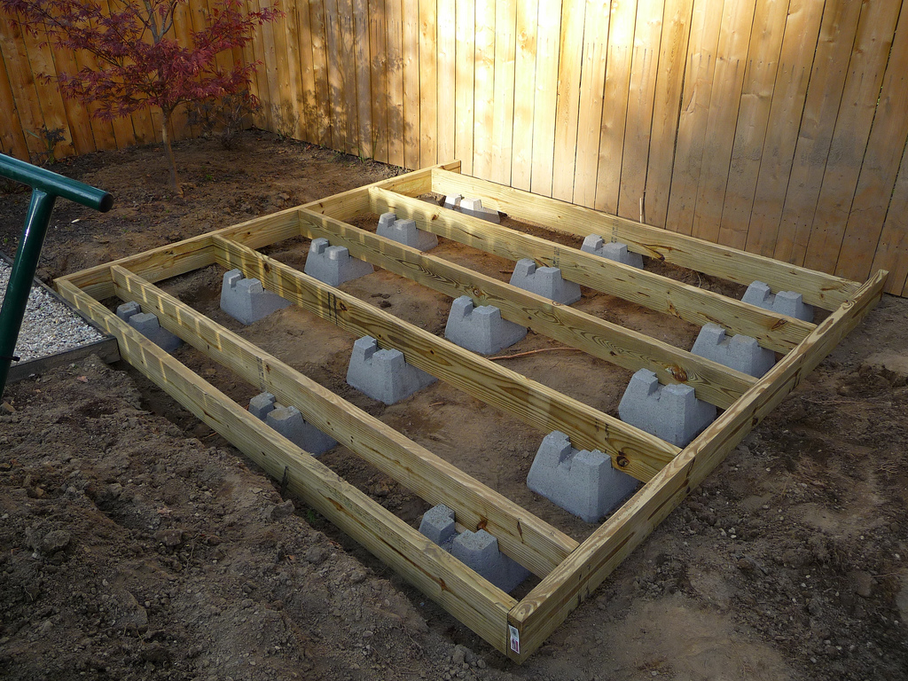 Image of: Deck Pier Blocks at Home