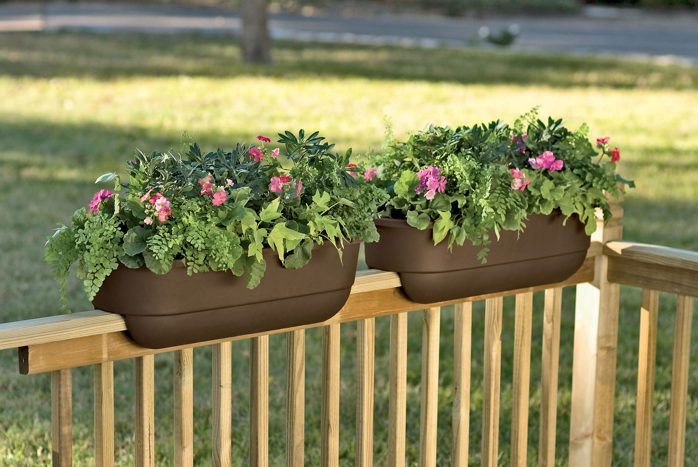 Image of: Deck Rail Planter Boxes Made With PVC Fiskars
