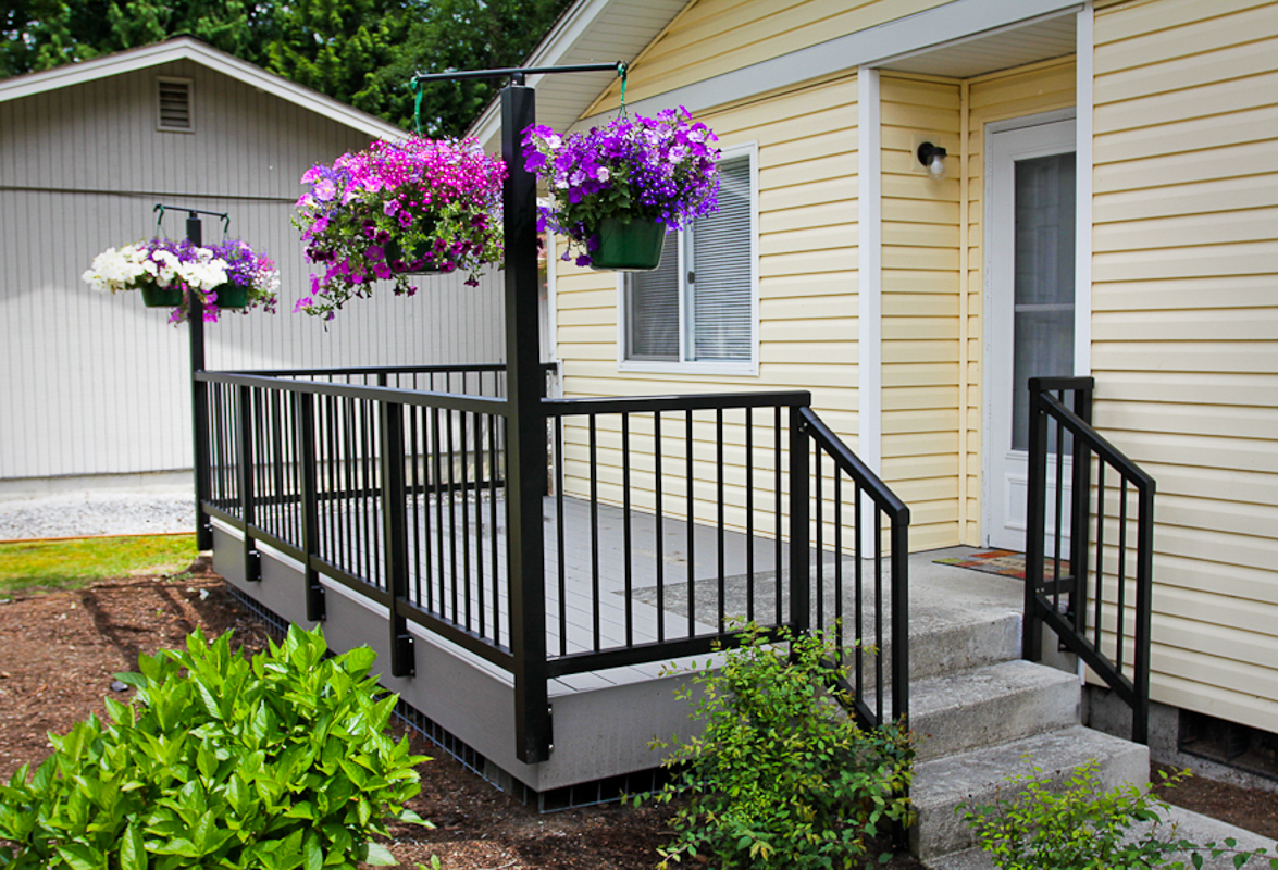 Image of: Deck Rail Planters Home Depot