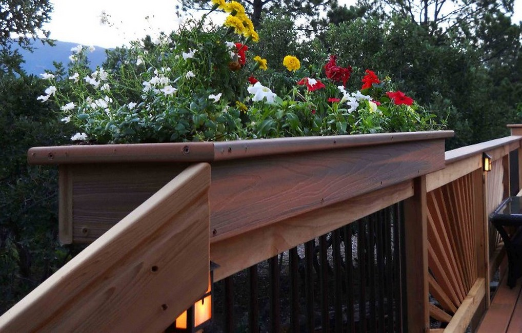 Image of: Deck Rail Planters Lowe's Home Depot