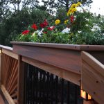 Deck Rail Planters White